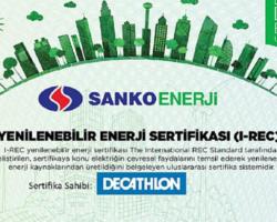 """Sanko Enerji """"Yeşil Enerji Sertifikaları"""" Sunuyor"""